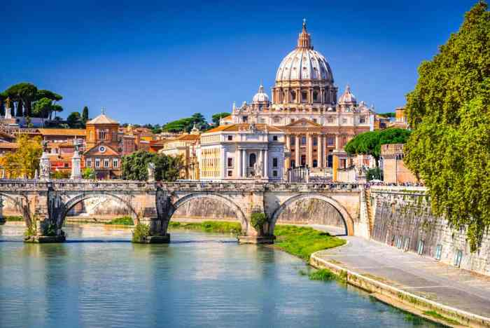 A view of St. Peter's Basilica from the water