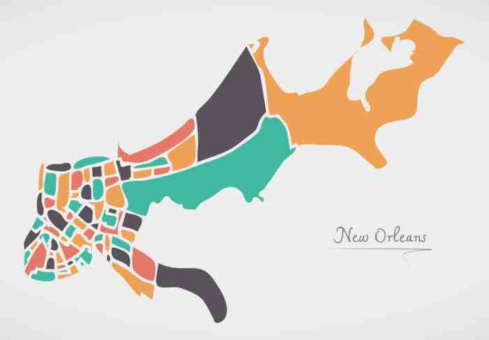 Map of New Orleans for your Itinerary