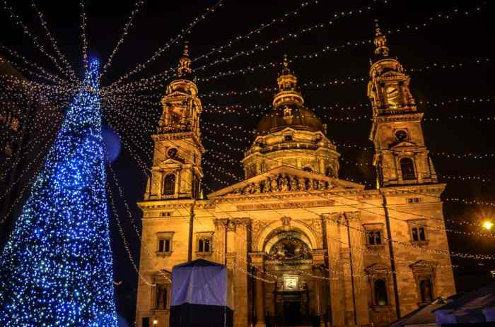 The Basilica makes this one of the prettiest Christmas markets in Europe