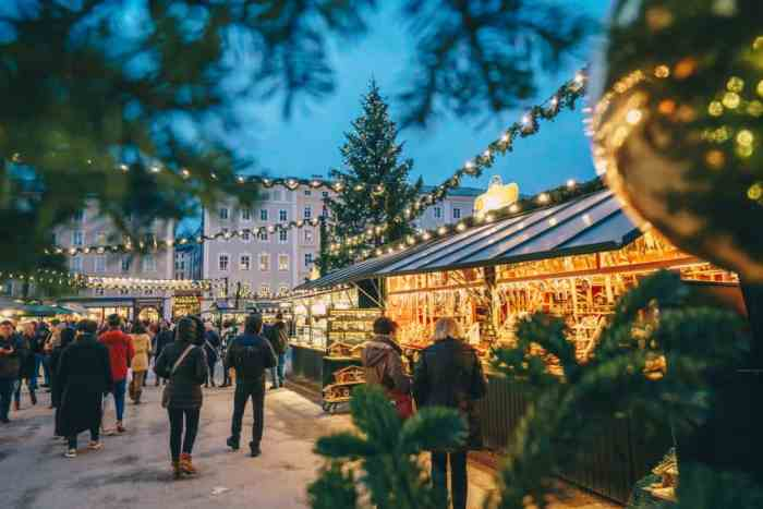 Walk down the streets of this Christmas market