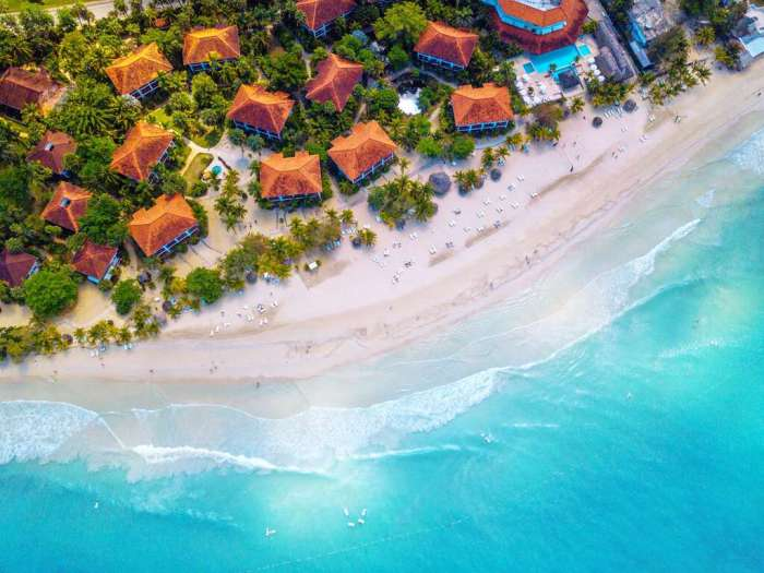Aerial Photo of Negril Couples, a Perfect Place to Stay on Your Jamaica Honeymoon