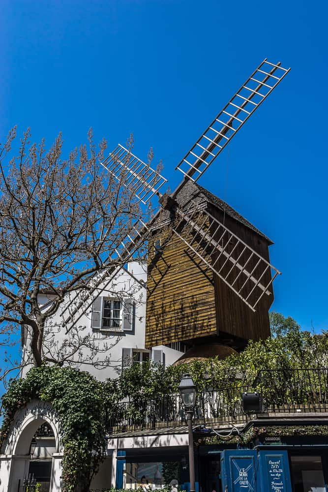 Le Moulin Galette is one of the last existing windmills in Paris
