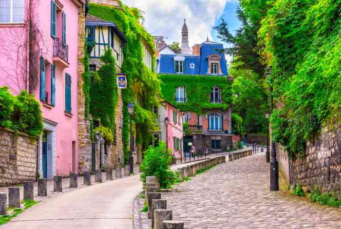 Street view of Montmartre