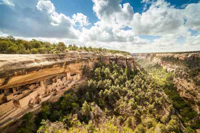 see cliff dwellings at Mesa Verde National Park on your Colorado road trip