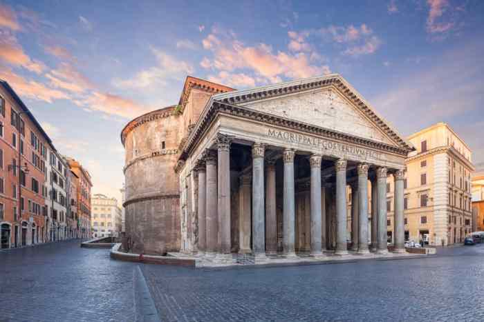 You can walk to the Pantheon from some neighborhoods in Rome