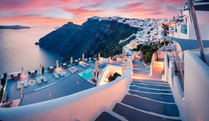 Photo of Greece sunset.