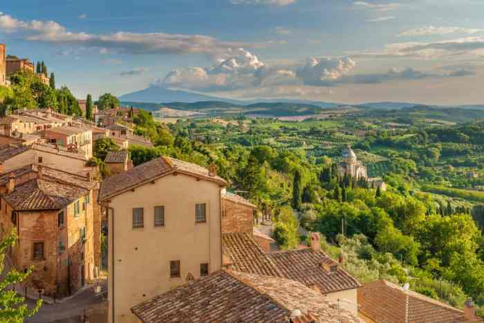 A view of the Tuscan countryside