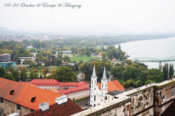 遠眺對岸斯洛伐克的Esztergom 中世紀城堡