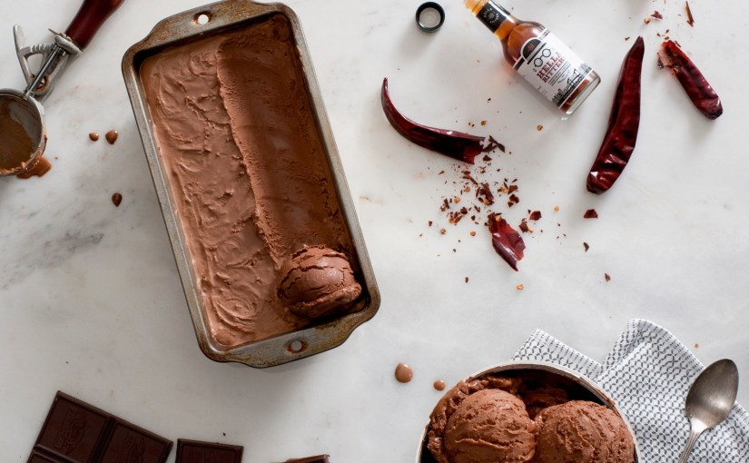 Chocolate and Smoked Chili Ice Cream