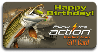 Follow the Action Musky Birthday Gift Card