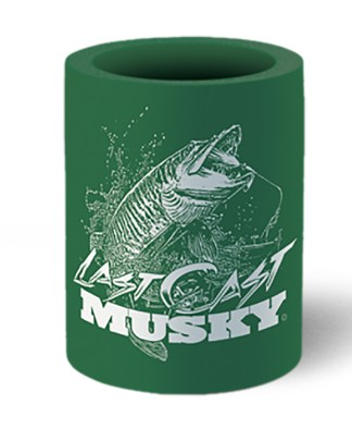 Follow the Action Musky Last Cast Koozie Can Cooler