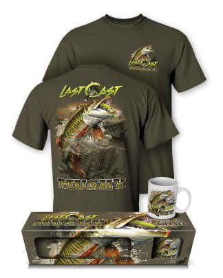 "Follow the Action - Musky ""Last Cast"" T-Shirt and Mug Premium Gift Set"