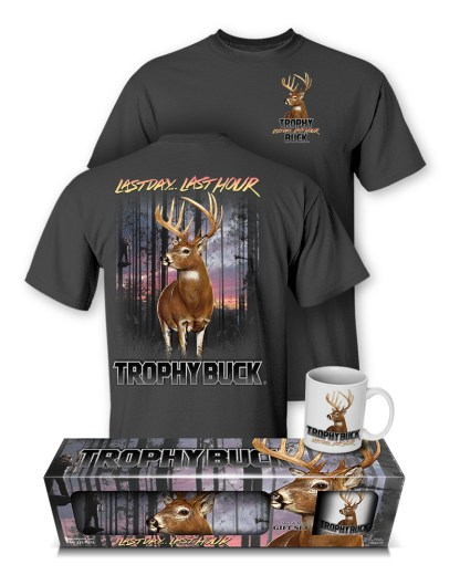 "Follow the Action - Whitetail Deer ""Trophy Buck"" T-Shirt and Mug Premium Gift Set"