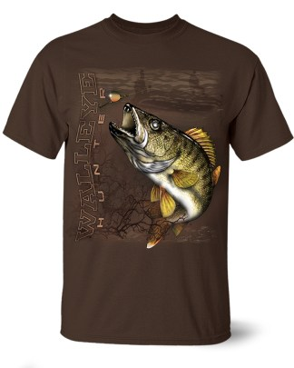 Follow the Action- Walleye Hunter One-Sided T-Shirt