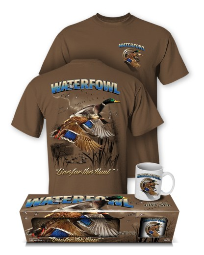 Follow the Action - Waterfowl (Duck) T-Shirt and Mug Premium Gift Set