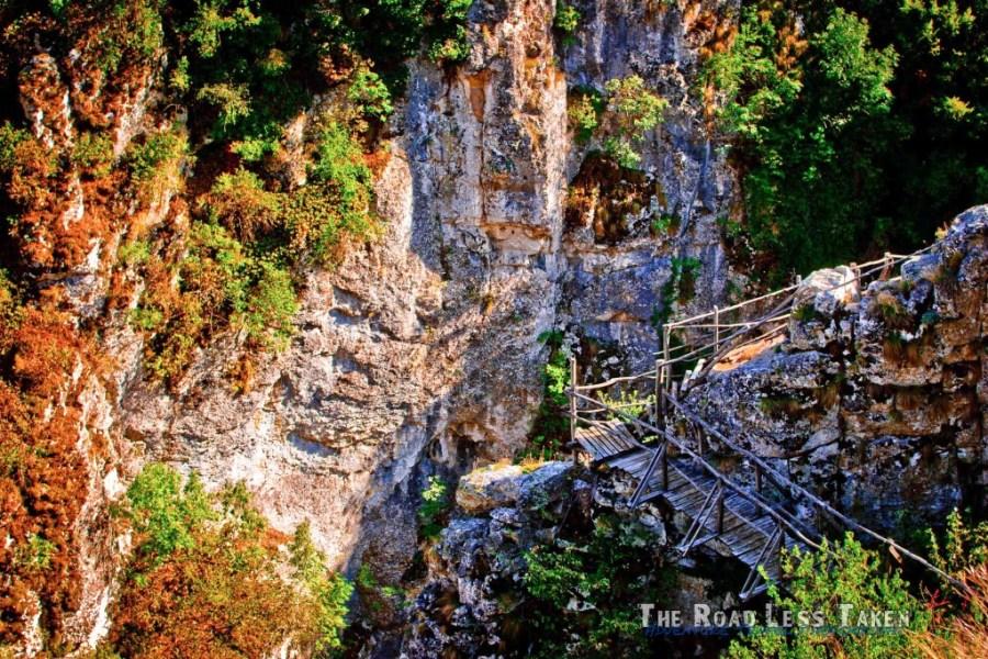 Rickety old bridge in Bulgaria