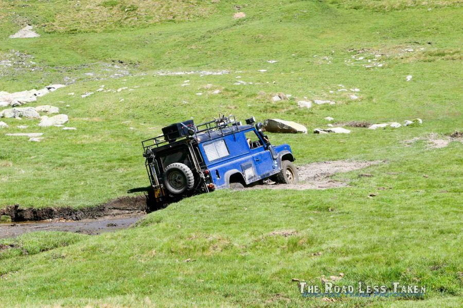 Off road in Andorra with a Land Rover Defender