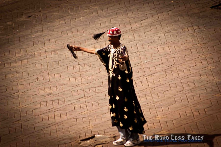 Snake charmer on Marrakech Main Square