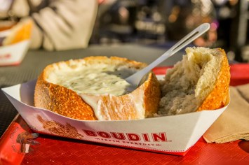 Had to stop at Boudin to get the best sour dough and clam chowder in town