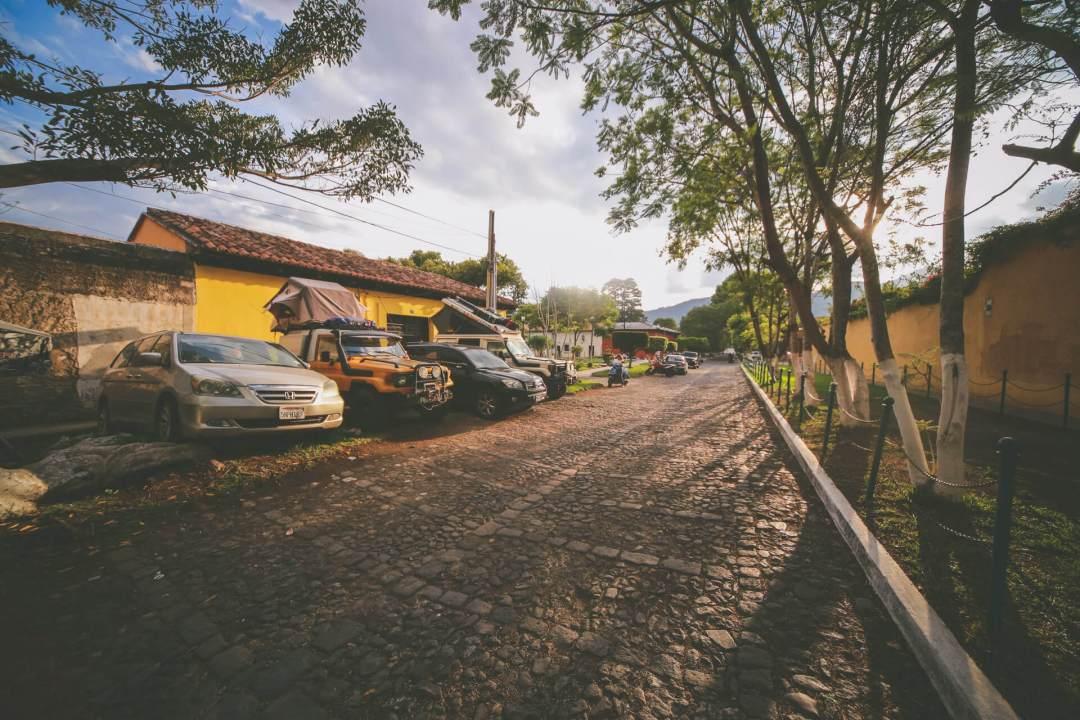 Overland Guatemala - Street Camping Antigua