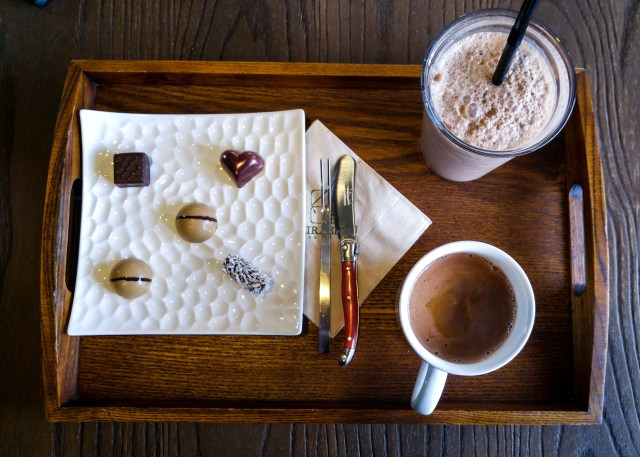 Mirabeau chocolate cafe, near Gyeongbokgung Station, Seoul.