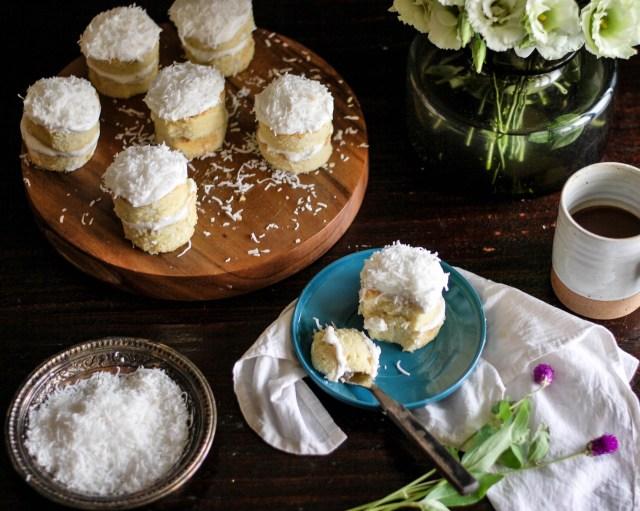 Coconut Rum Mini Cakes
