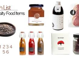 Specialty food items in Korea.