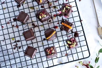 Hallabong orange marmalade-filled chocolates