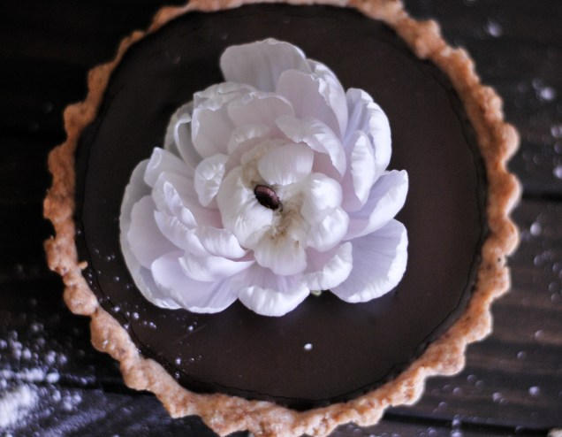 Chocolate Rosemary Tarts With Almond Crust