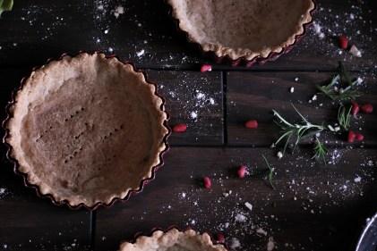 Chocolate Rosemary Tarts With Almond Crust