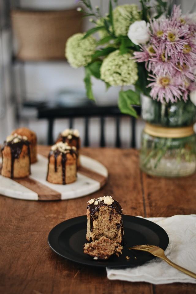 hazelnut chocolate ricotta tea cakes recipe