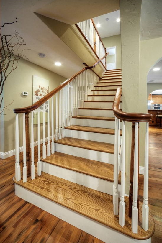 Hardwood Stair Treads Folsom Stair Woodworks | Floor And Decor Wood Stair Treads | Carpet | Unfinished Pine | Engineered Hardwood | Stair Riser | Basement Stairs