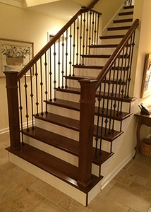 Hardwood Stair Treads Folsom Stair Woodworks | Types Of Wooden Stairs | Rustic Wooden | Storage | Separated | Staircase | Vertical Wood