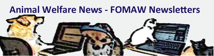 FOMAW Newsletters for animal welfare and spay neuter