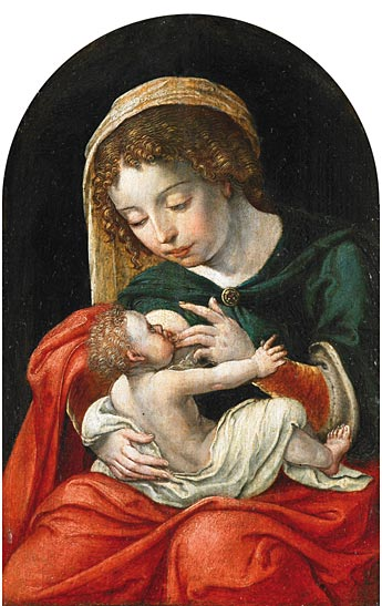 Virgin Nursing the Child