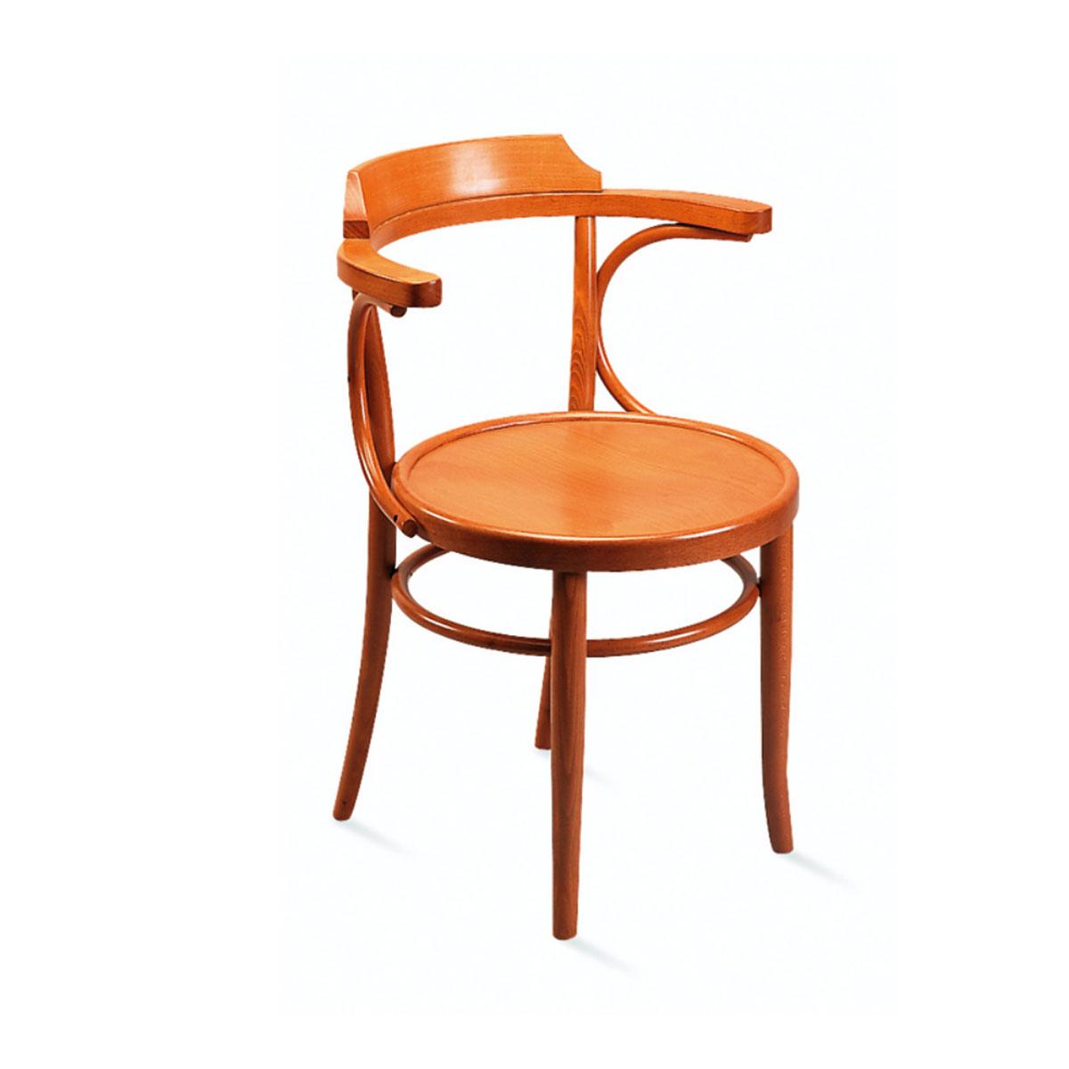 chaise bistrot bois accoudoir