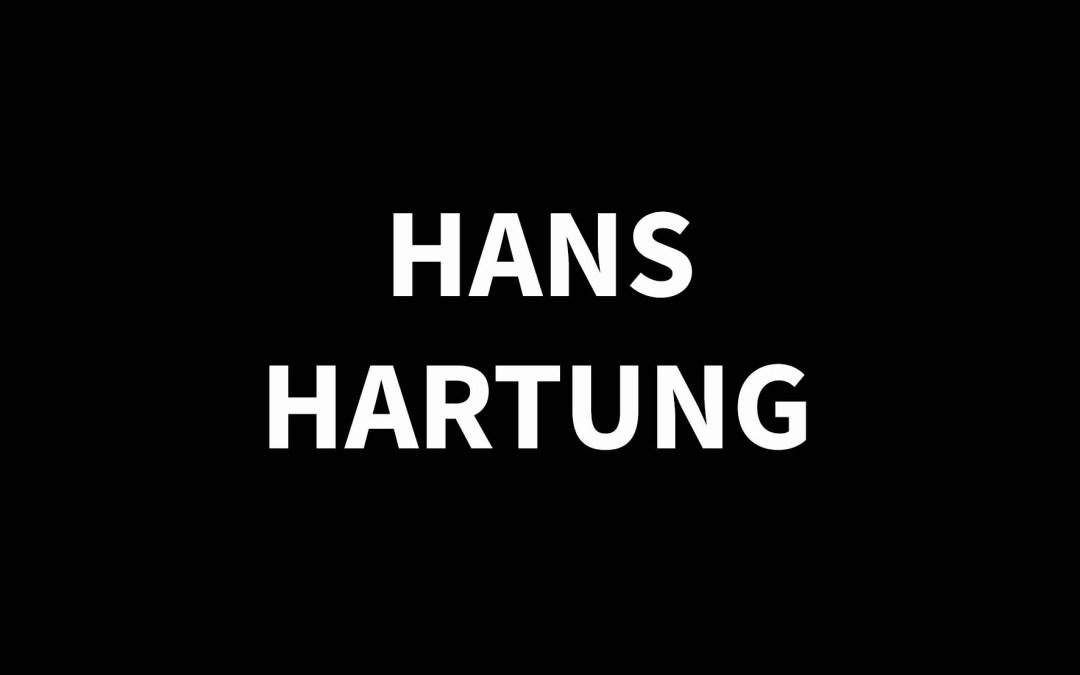 HANS HARTUNG1904 – 1989