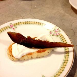 Tapitas de queso crema con higo