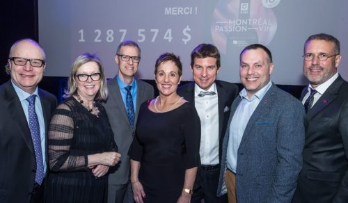 Dévoilement des sommes recueillies dans le cadre de Montréal Passion Vin 2019