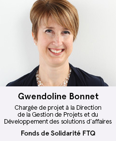 Gwendoline Bonnet - membre du comité À Votre Santé!