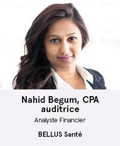 Nahid Begum, CPA - membre du comité À Votre Santé!