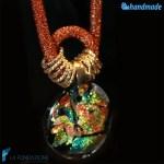 Collana Rete Bronzo Dicroico in vetro di Murano – COLL0080