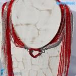Collana Sciarpina Conteria Cuore in vetro di Murano - COLL0086