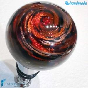 Tappo da bottiglia Sfera Avventurina in vetro di Murano - CAPS00013