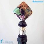 Tappo da bottiglia Dicroico Rombo in vetro di Murano - CAPS0019
