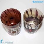 Coppia Goti Viola in vetro di Murano – GOTI0022