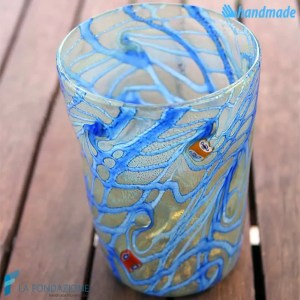 Goto Reticello Blu in vetro di Murano - GOTI0032