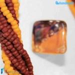 Parure Torchon maxi 9 fili con anello e collana in vetro di Murano – PARU0032