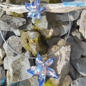 Parure Stella Marina con collier e anello in vetro di Murano - PARU0042