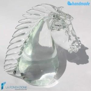 Testa di cavallo in vetro di Murano - SCUL001